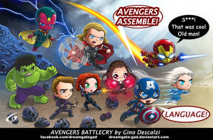 Avengers Battlecry by Gad by Dreamgate-Gad