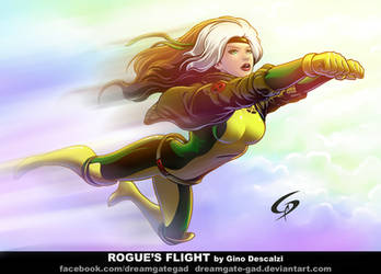 Rogue's flight by Gad by Dreamgate-Gad
