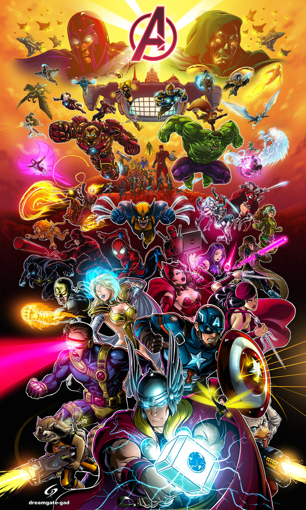 Marvel Avengers Alliance Assemble Forever by GAD by Dreamgate-Gad