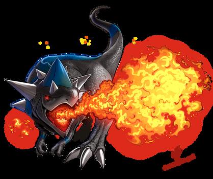 Rampardos used Flamethrower