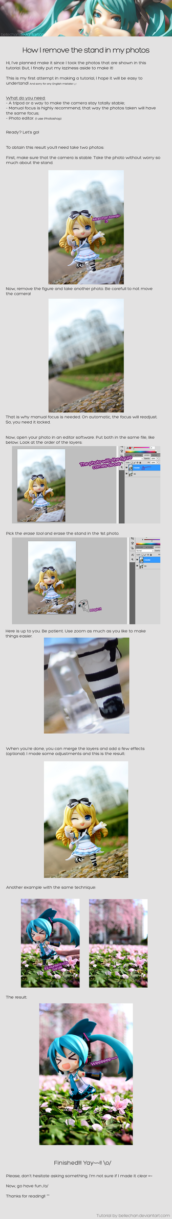 How to remove stand in photos [tutorial] by Bellechan