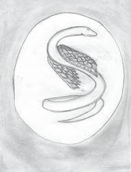Wing Serpent Tattoo by SassyDragon18