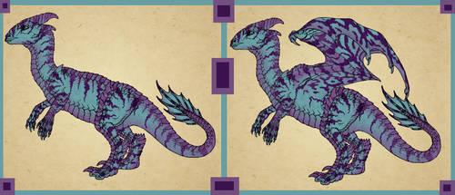 Sassy Dragon - Dino-Dragon forms by SassyDragon18