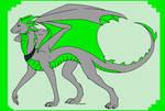 Bendice Sliverleaf Dragon - Atom's Cousin by SassyDragon18