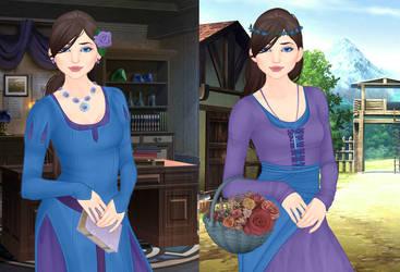 Sassy Dragon - Medieval Girl forms by SassyDragon18