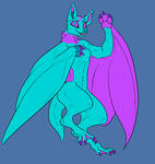 Sassy Dragon - Anthro Bat form by SassyDragon18