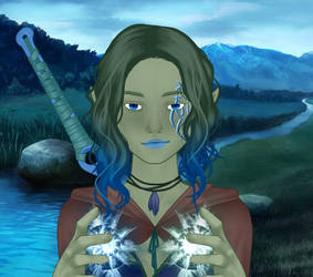 Emma - Orc Girl form by SassyDragon18