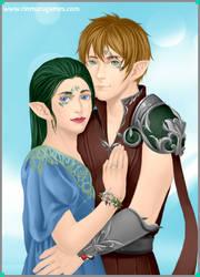 Emma and Chris - Elf forms by SassyDragon18