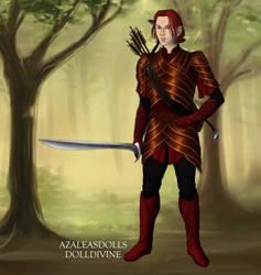 Atom - Elf form in Armor by SassyDragon18