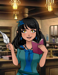 PepsiCobra19's New Half Dark Elf Girl by SassyDragon18