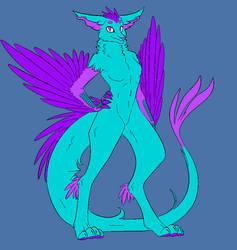 Sassy Dragon - Anthro Enfield form