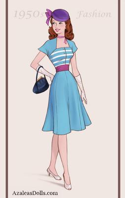 Sassy Dragon - 1950s Fashion Girl form