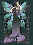 Flowers and Scales: Ellen the Night Fairy by SassyDragon18