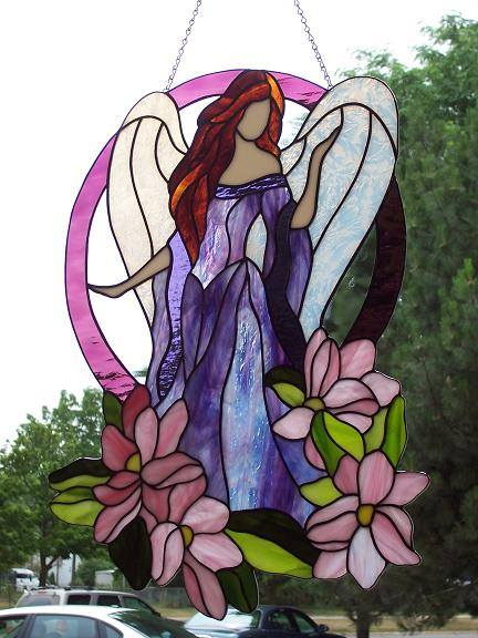 Angel Stained Glass by captivefancy