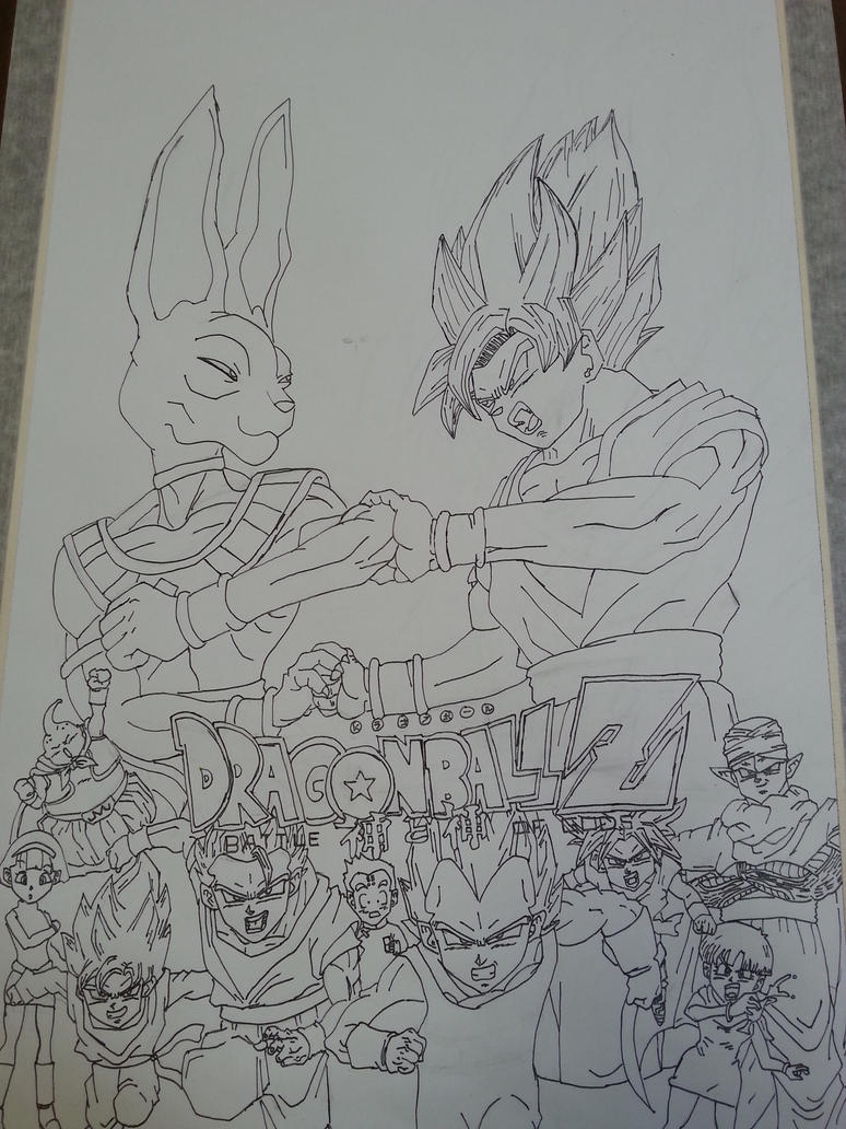Dragon Ball Z Battle Of Gods Poster By Gilly5 On Deviantart Z Battle Of Gods Coloring Pages