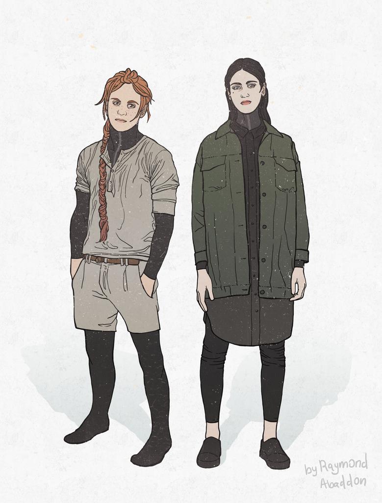 Character design: Naas and Nina by rai-mond