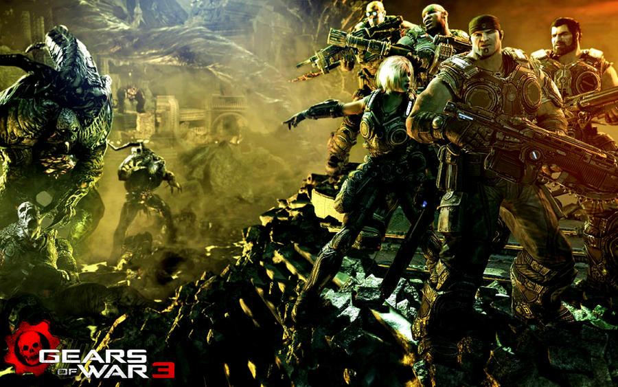 gears of war wallpaper. Gears of War 3 GI Wallpaper by