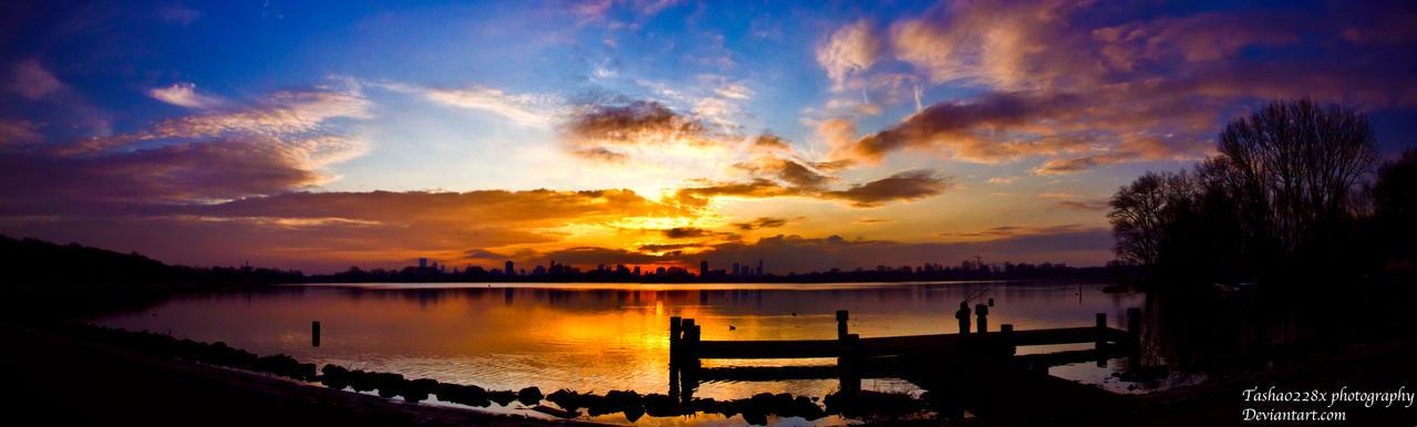 Pano sunset by Tasha0228x