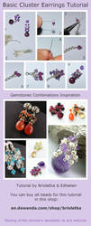 Cluster Earrings Tutorial by edhelien