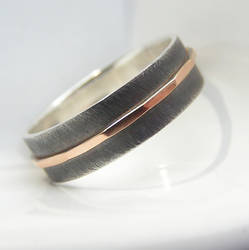 Textured with Rose Gold