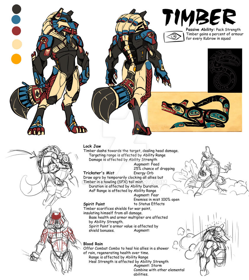 Warframe Concept] Timber the Weather Werewolf - Fan Concepts