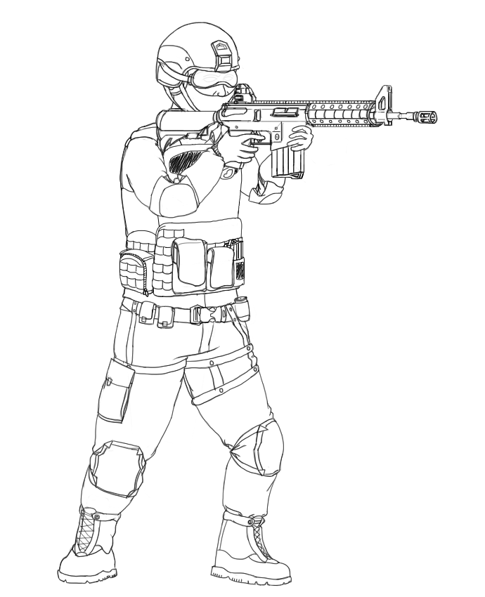 Sketches on swat coloring pages for Swat team coloring pages