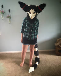 Grimm Fursuit Head+Tail Commission by Ariokkii