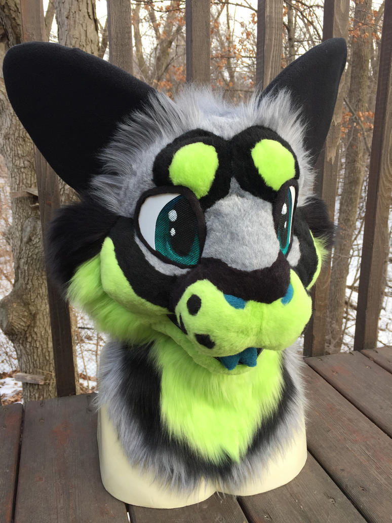 Furry Cat Fursuit Black