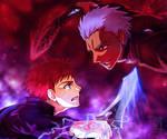Fight Against the Past (Archer vs. Shirou)