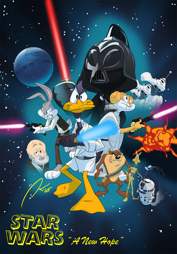 Looney Tunes Star Wars A New Hope by andrewk