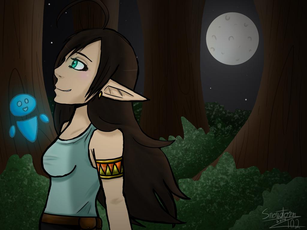 Fantasy Night Stroll by Snowstorm102