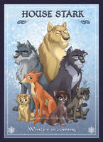 House Stark by fangirl-art