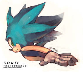 Sonic the hedgehog by Smawa