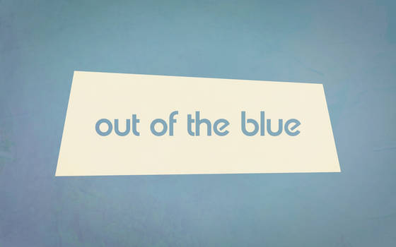 Out of the blue by TheWallboard