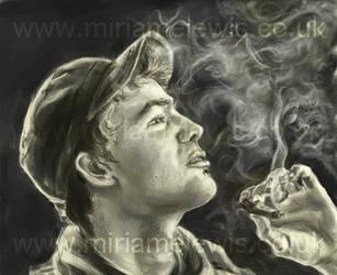smoky portrait by Yusecki