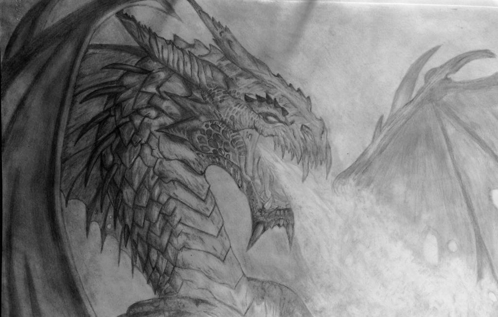 Fire breathing dragon by Scarletfenrirx