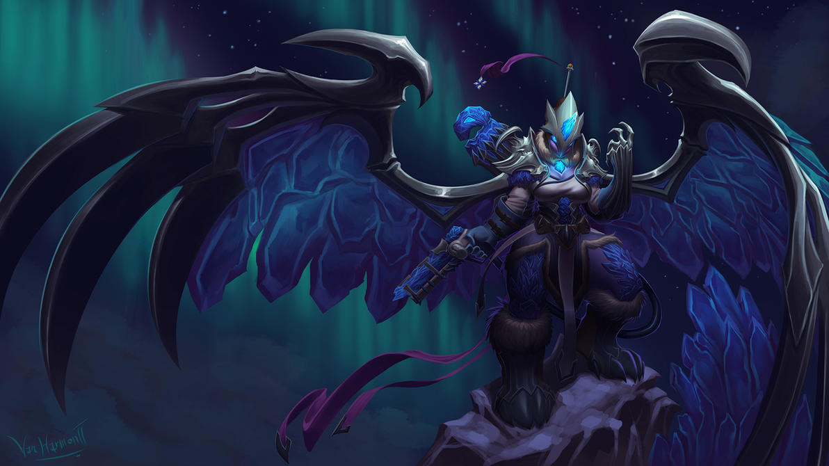 Commission: Blackfrost Anivia + Mei by VanHarmontt