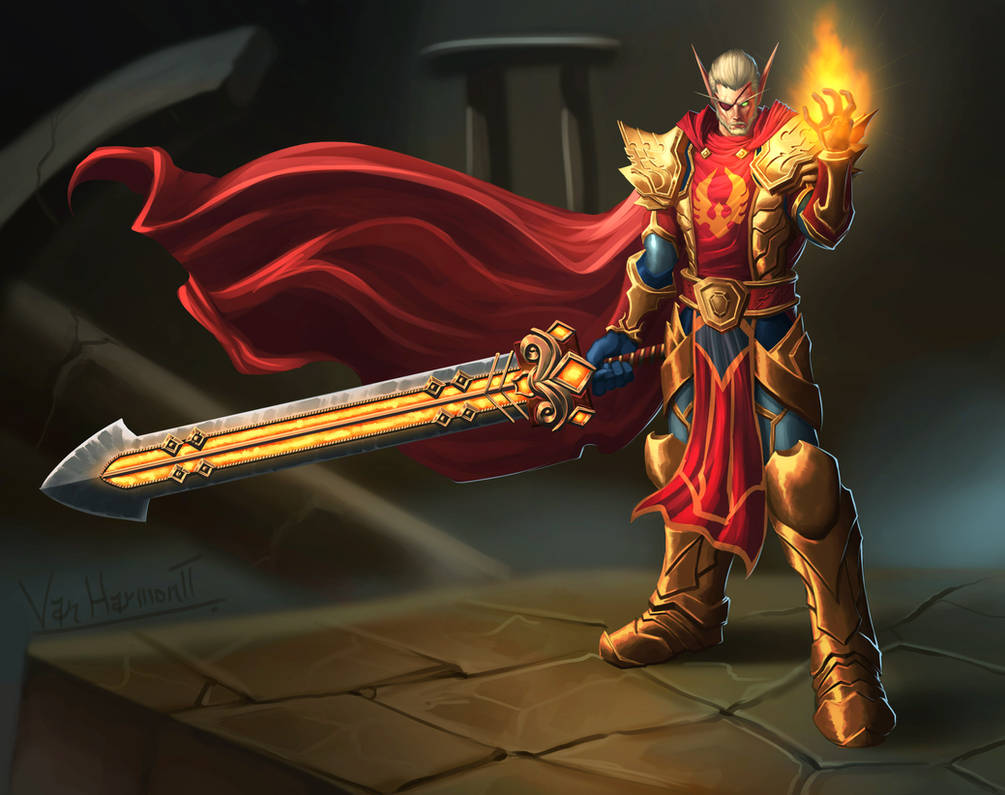 Commission: Blood Knight by VanHarmontt