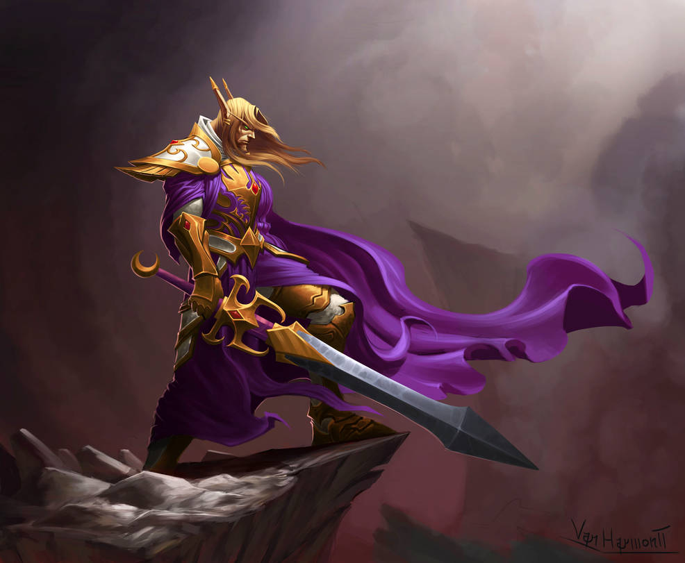 Blood elf Paladin by VanHarmontt