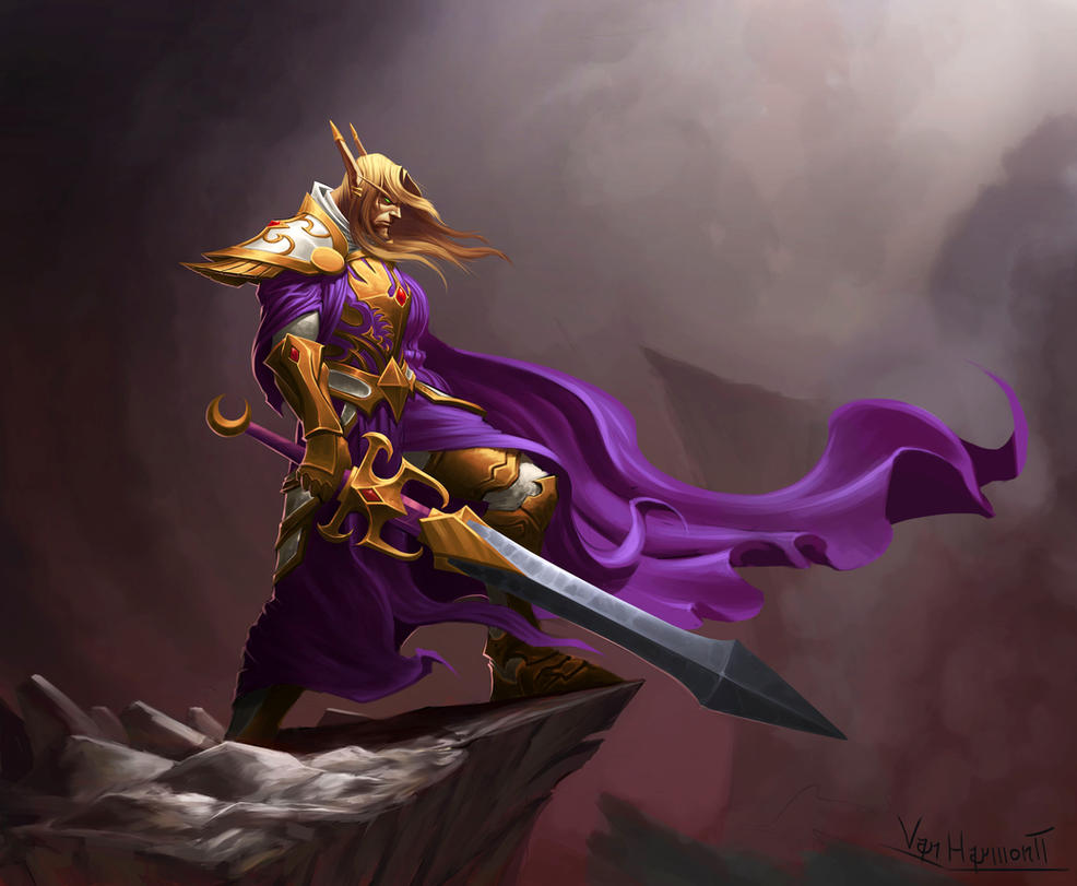 Blood elf Paladin by VanHarmontt
