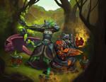 Orc hunter and panda shaman
