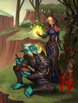 Troll DK and Bloodelf priest