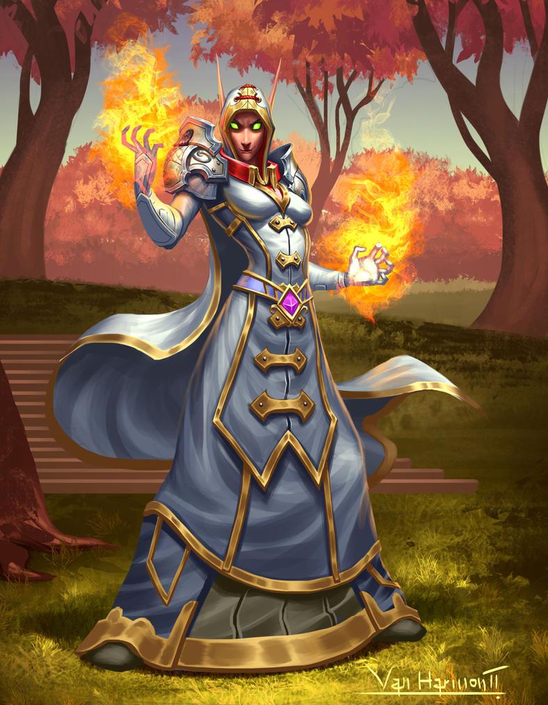 Blood elf Fire Mage by VanHarmontt