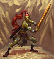 Githyanki Barbarian by VanHarmontt