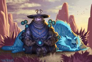 Pandaren Monk by VanHarmontt