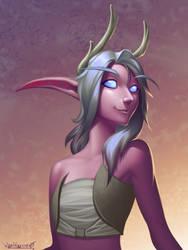 Night elf druid by VanHarmontt