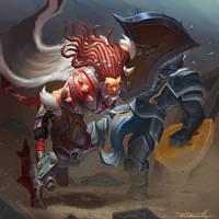 Orc warrior by VanHarmontt