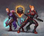 Undead warrior and Blood elf paladin