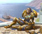 Human Paladin in SW harbour