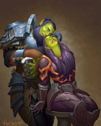 Orc couple by VanHarmontt